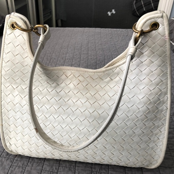 2676292764c Bottega Veneta Bags   Whitecream Shoulder Bag   Poshmark